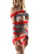 Bondage sady a postroje s pouty: Šedé bondage popruhy Strap-Ease XL s přezkami, 2x 2,4 m